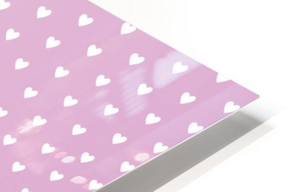 Spring Pink Heart Shape Pattern HD Sublimation Metal print