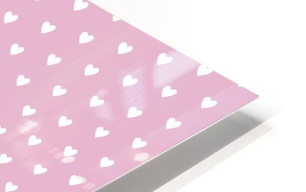 Sweet Lilac Heart Shape Pattern HD Sublimation Metal print