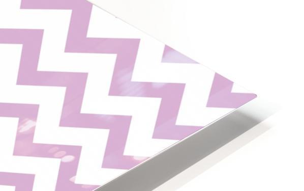 ORCHID CHEVRON HD Sublimation Metal print