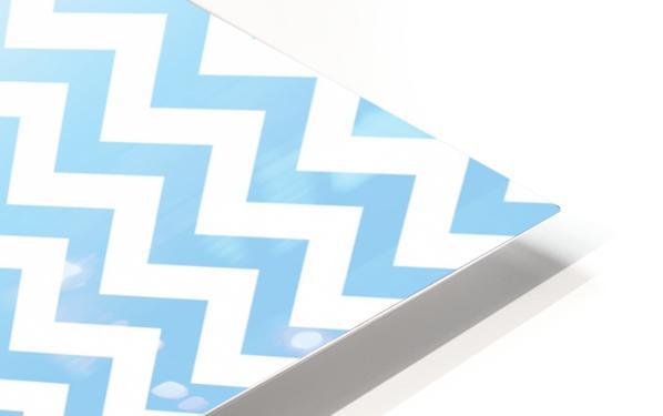 BLUE  PASTEL CHEVRON HD Sublimation Metal print