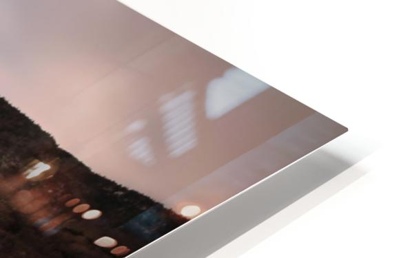 White Shoreline HD Sublimation Metal print