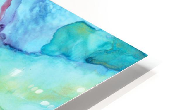Blue under Lines  HD Sublimation Metal print