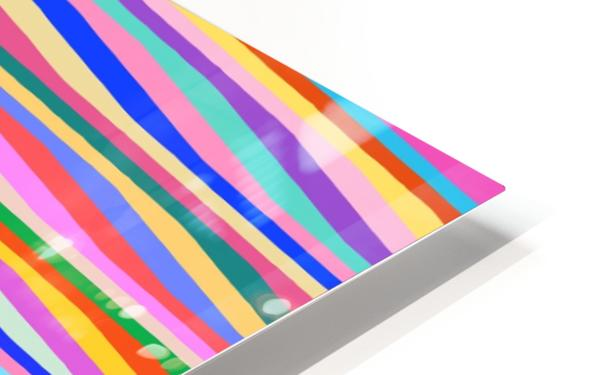Wavy Stripes Abstract  HD Sublimation Metal print