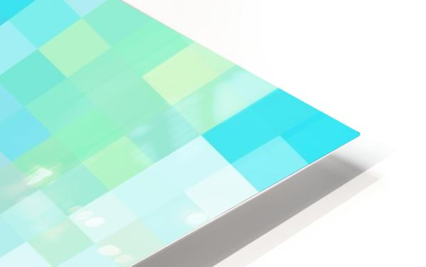 Abstract Pixel Picture -Ocean shades  HD Sublimation Metal print