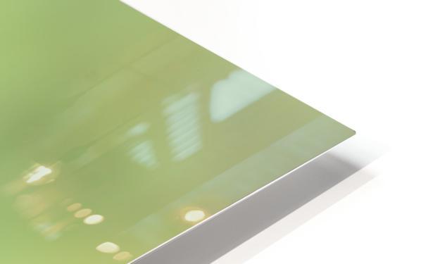 Abstract Art Bokeh - greens and yellow HD Sublimation Metal print