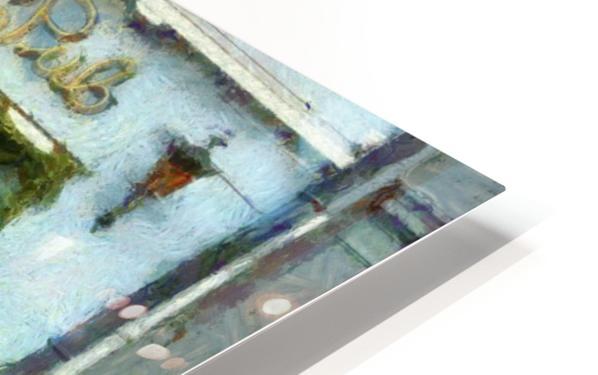 Blue Cafe Copenhagen HD Sublimation Metal print