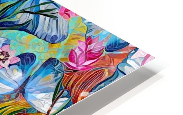 Colorful Floral Abstract  HD Sublimation Metal print