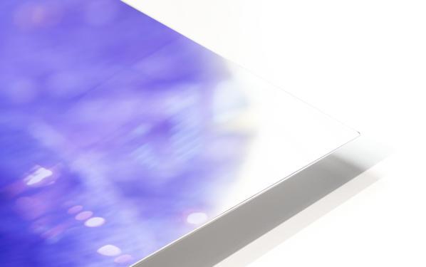 Blue Flower Anemone Close-up Macro HD Sublimation Metal print