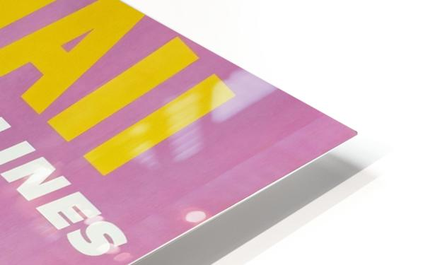 HAWAII TRAVEL POSTER HD Sublimation Metal print