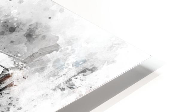 Monochrome Art NYC Manhattan Bridge | watercolor HD Sublimation Metal print