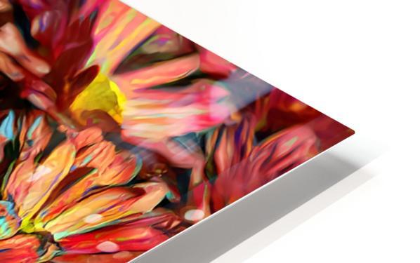 Rainbow Floral HD Sublimation Metal print