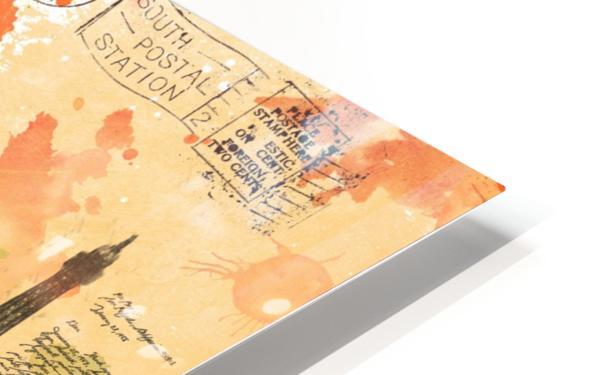 Scrapbook paris vintage france HD Sublimation Metal print