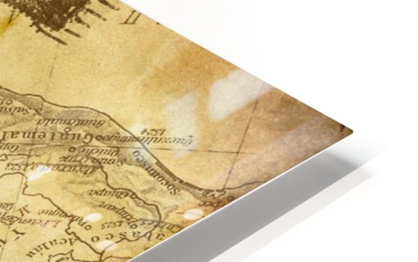 vintage map background paper HD Sublimation Metal print