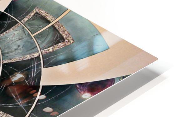 Graphic Ornamental Silver HD Sublimation Metal print