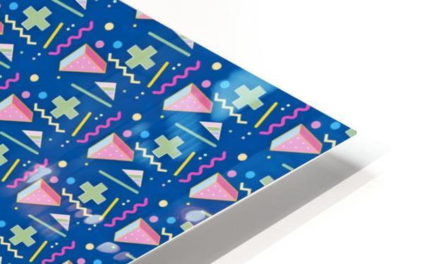 memphis pattern HD Sublimation Metal print