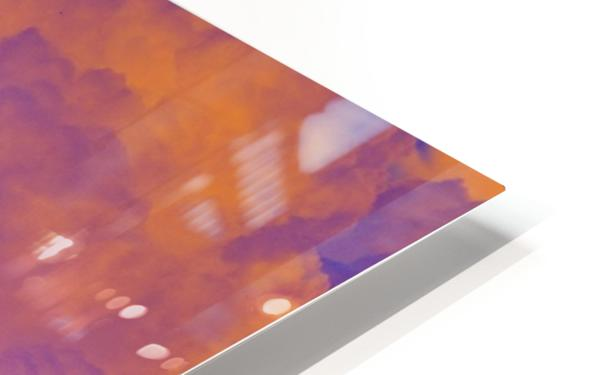 White Rhino orange purple HD Sublimation Metal print