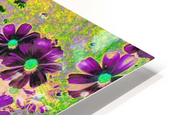 Flowers Garden Purple HD Sublimation Metal print