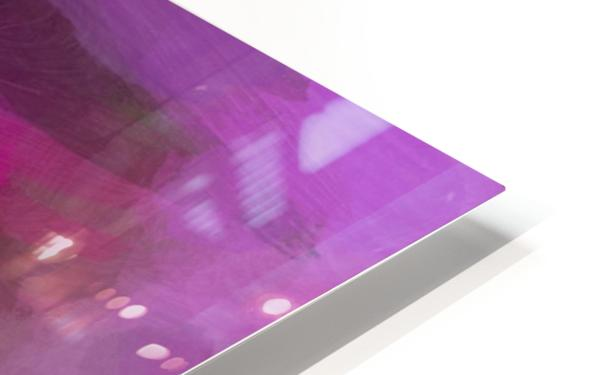Magenta and Green HD Sublimation Metal print