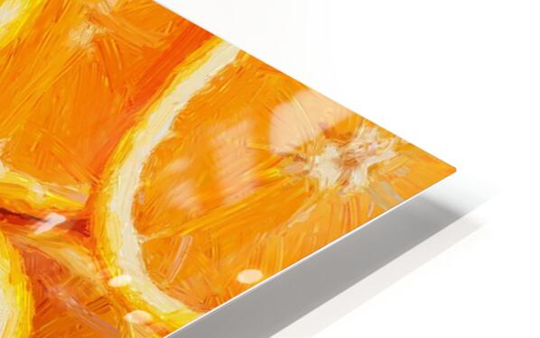 orange HD Sublimation Metal print