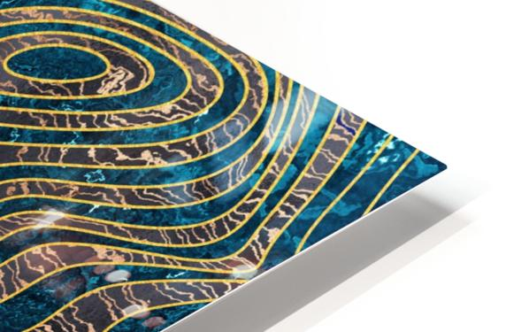 Marble waves HD Sublimation Metal print