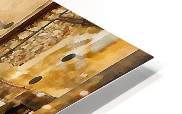 Around The Corner in Cortona HD Sublimation Metal print