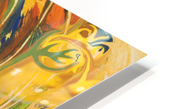 yellow flowers abstraction HD Sublimation Metal print