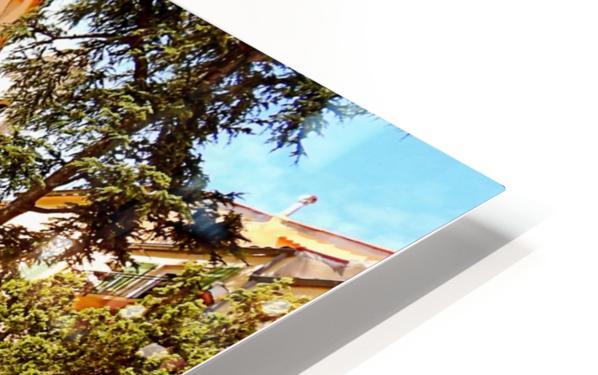 French Village Bistro HD Sublimation Metal print