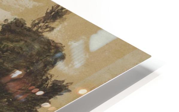 Ferme sur les hauteurs de Vichy HD Sublimation Metal print