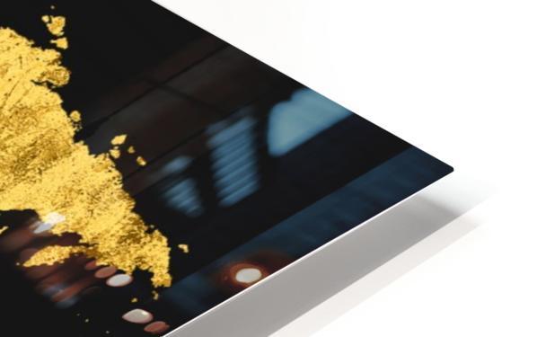 Golden World Map HD Sublimation Metal print