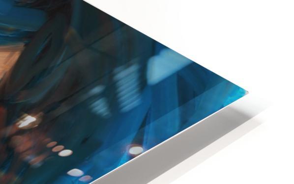 Blue Hair HD Sublimation Metal print