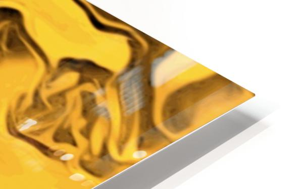 Richer fusion - gold and black gradient abstract wall art HD Sublimation Metal print