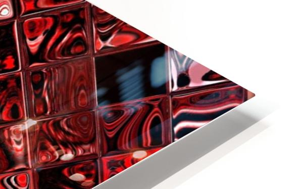 Red Glass Tiles 3 HD Sublimation Metal print
