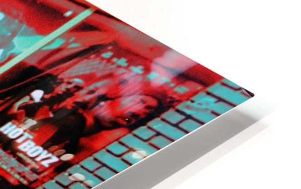 Atlanta Street Scene -- Turquoise HD Sublimation Metal print