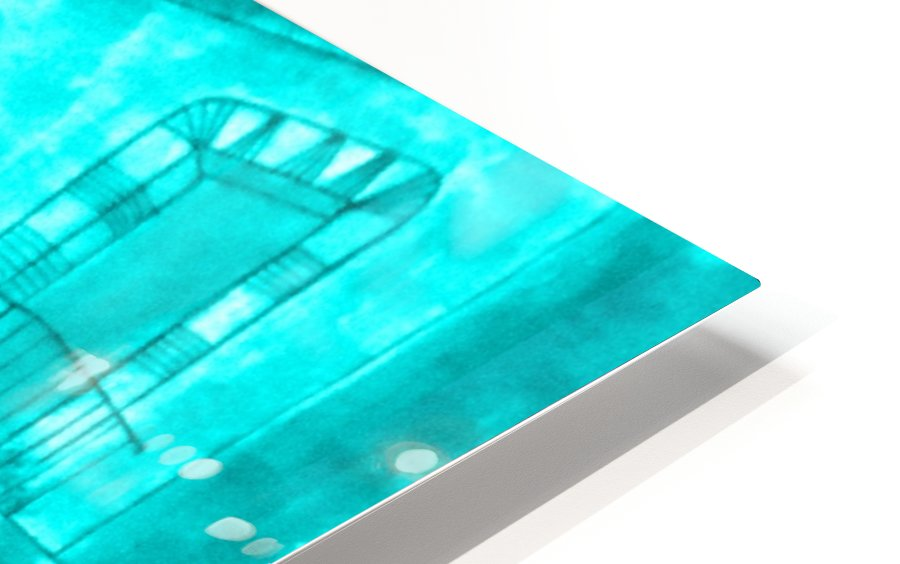 Let Them Eat Cake -- Turquoise HD Sublimation Metal print