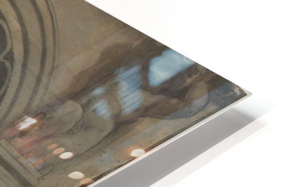 Esquisse pour la coupole du pavillon Denon au Louvre La pensee ou l architecture HD Sublimation Metal print