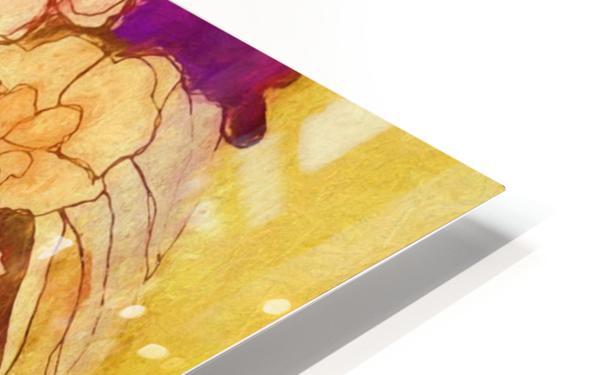 Floral pansies HD Sublimation Metal print