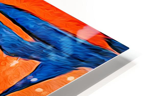 Orange Flowers  HD Sublimation Metal print