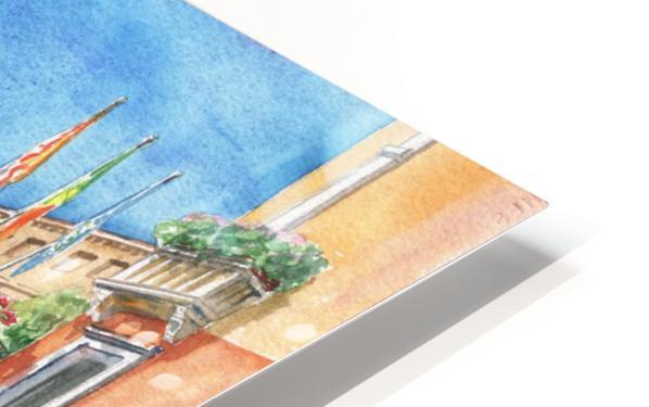 Venice Canal And Gondolier Italian City Landscape  HD Sublimation Metal print