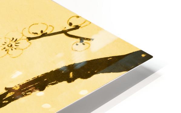 Plum Blossom Twig - Yellow HD Sublimation Metal print