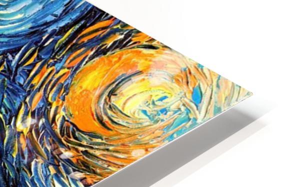Castle Starry Night print van Gogh parody HD Sublimation Metal print