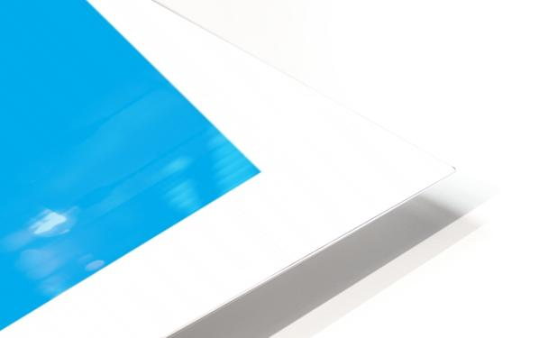 Solid Cyan Process color with word HD Sublimation Metal print