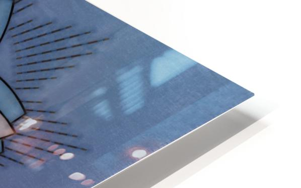 Simple Vintage Glow Mandala Solid HD Sublimation Metal print