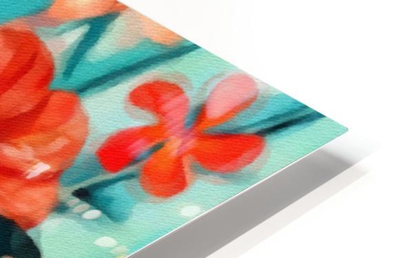 Vibrant Tropical Floral  HD Sublimation Metal print
