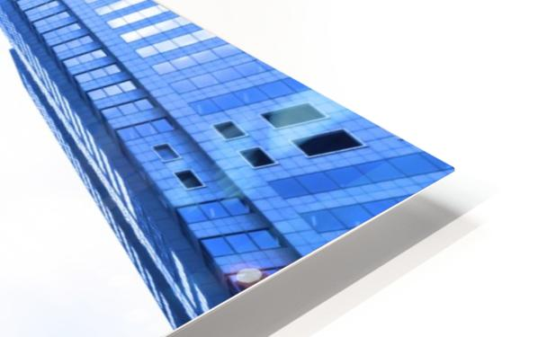 Skyscrapers reflections clouds HD Sublimation Metal print