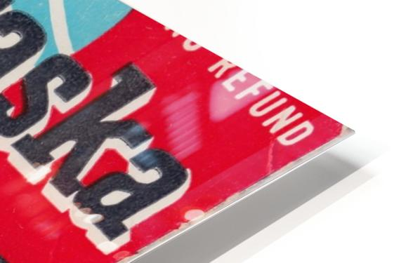 1962 Kansas State vs. Nebraska Cornhuskers Ticket Stub HD Sublimation Metal print
