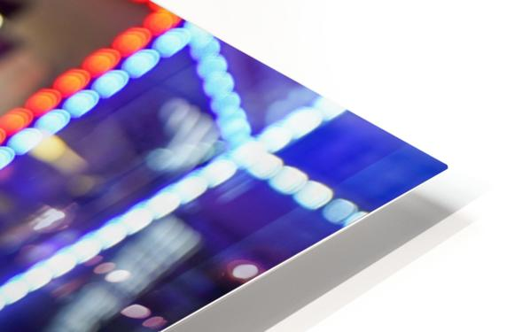 Red White and Bokeh HD Sublimation Metal print