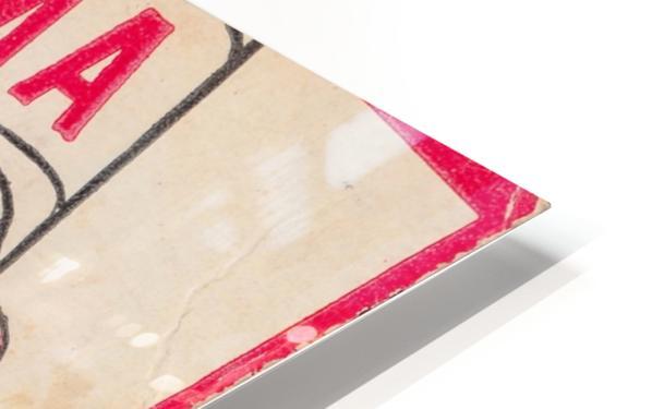 1980 Bama Football Player Flag Art_Tuscaloosa Alabama_Bryant Denny Stadium_Ticket Stub Art Creations HD Sublimation Metal print