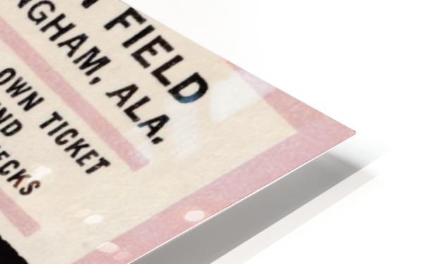 1975 University of Alabama Crimson Tide Football Ticket Stub Art Poster HD Sublimation Metal print