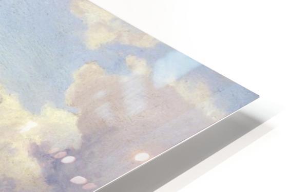 Blick auf den Felsberg im Odenwald HD Sublimation Metal print