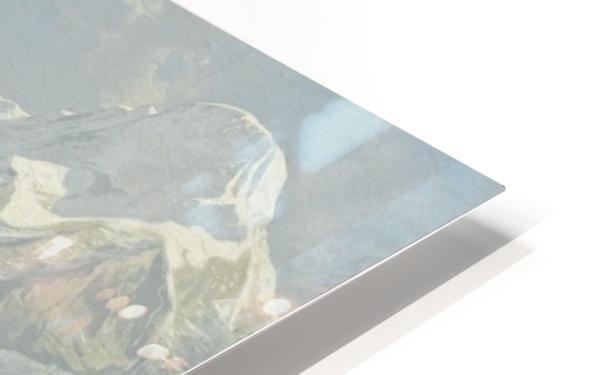 Blick von der Wengerenalp auf Eiger und Monch HD Sublimation Metal print